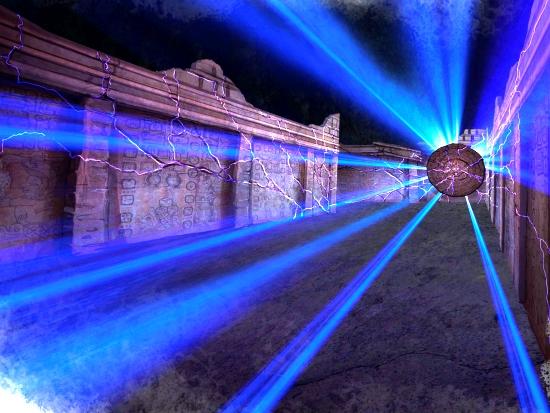 Concept art voor de finalezone van Huracan - Foto: Bellewaerde Park
