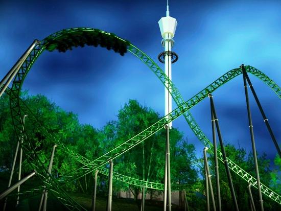 De nieuwe achtbaan Projekt Helix van Liseberg - Beeld: Liseberg