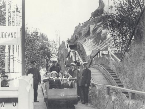 De rutschebanen uit 1914 in Tivoli