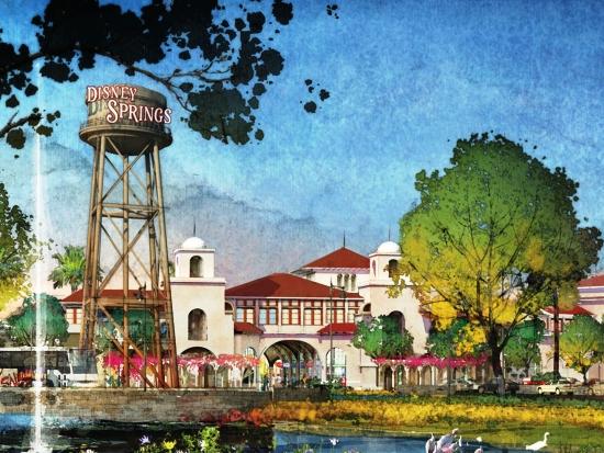 Town Center, de nieuwe ingang van Disney Springs - Concept art: (c) Disney