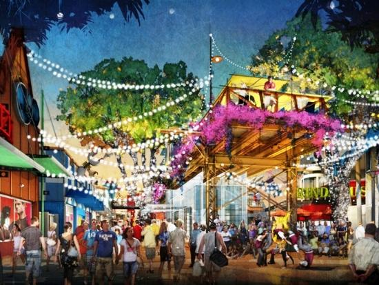 West Side krijgt verhoogde wandelpaden en terrassen - Concept art: (c) Disney