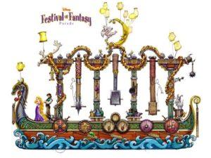 Artist concept voor de Festival of Fantasy Parade in het Magic Kingdom - Beeld: (c) Disney