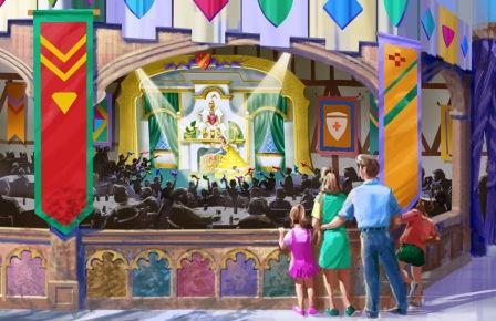 Fantasy Faire Stage in Disneyland - Artist impression: (c) Disney