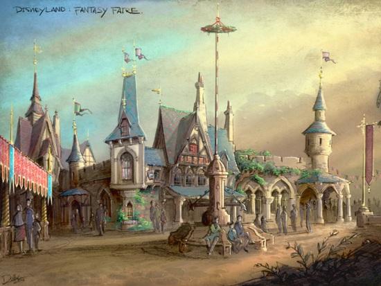 Fantasy Faire in Disneyland - Artist impression: (c) Disney