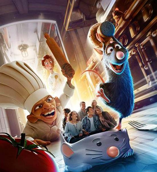 Ratatouille, in 2014 de nieuwe attractie in Walt Disney Studios - Beeld: (c) Disney