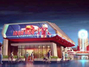 Concept art Iron Man Experience in Hong Kong Disneyland - Beeld: (c) Disney