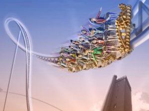 Artist impression van de nieuwe achtbaan Kärnan in Hansa-Park