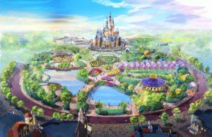 Tuin en kasteel van Shanghai Disneyland - Beeld: (c) Disney