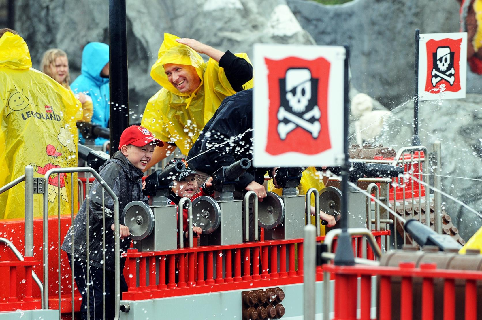 Pirate Splash Battle in Legoland Billund
