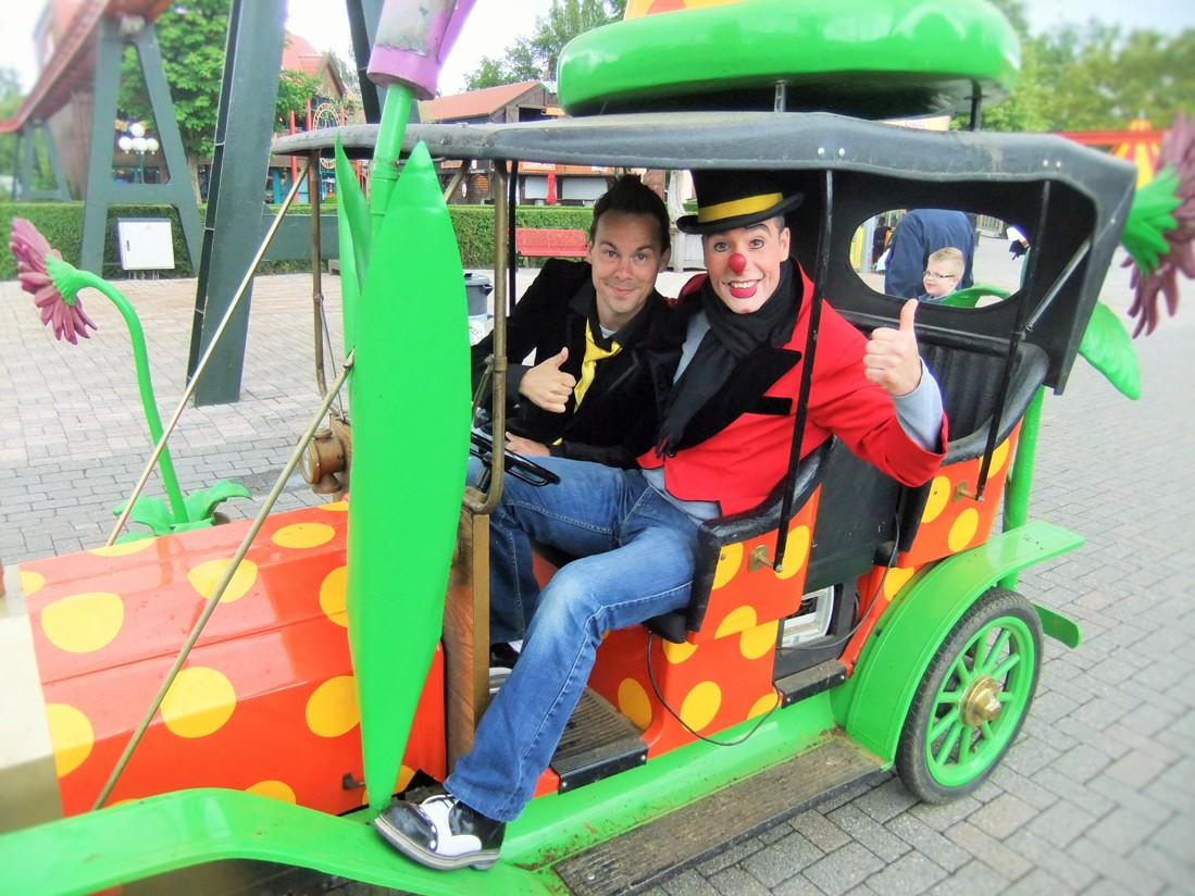 Clowns in Attractiepark Slagharen