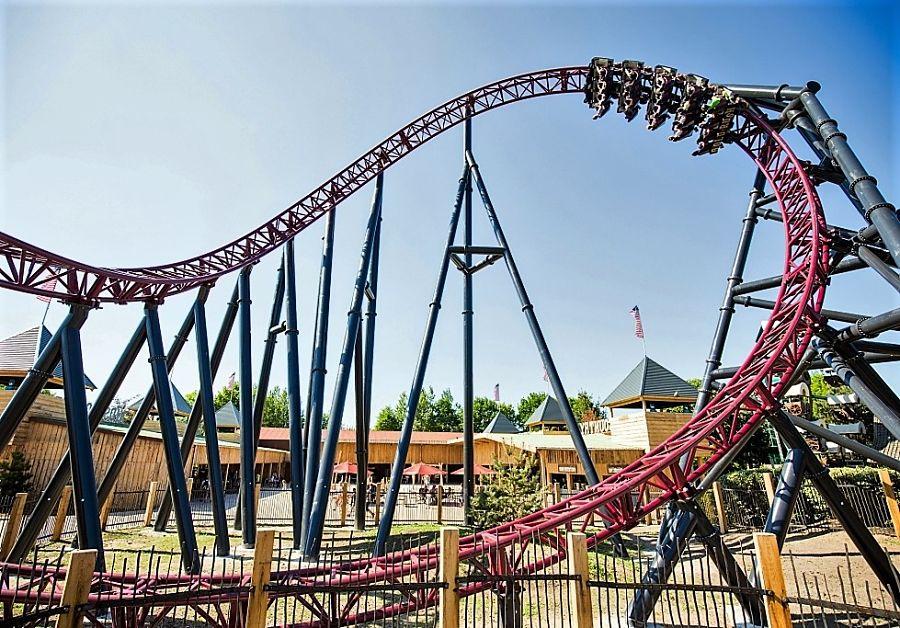 Achtbaan Gold Rush in Attractiepark Slagharen