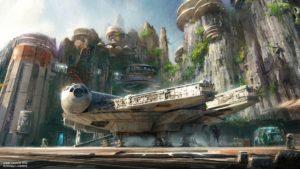 Star Wars Land - Artist impression: (c) Disney / Lucasfilm