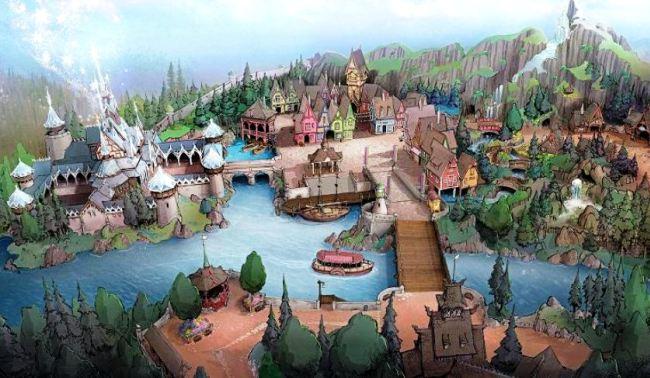 De wereld van Frozen in Tokyo Disney Sea - Tekening: Disney / Michel den Dulk