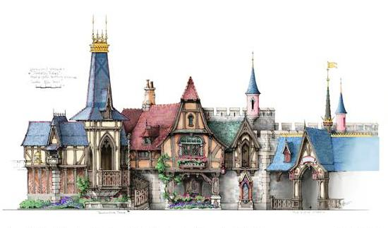 Fantasy Faire in Disneyland - Ontwerpschets: Michel den Dulk / Disney