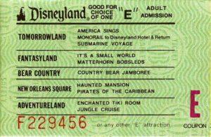 Een E-ticket uit omstreeks 1975 - Foto: Elf / Wikpedia c.c.