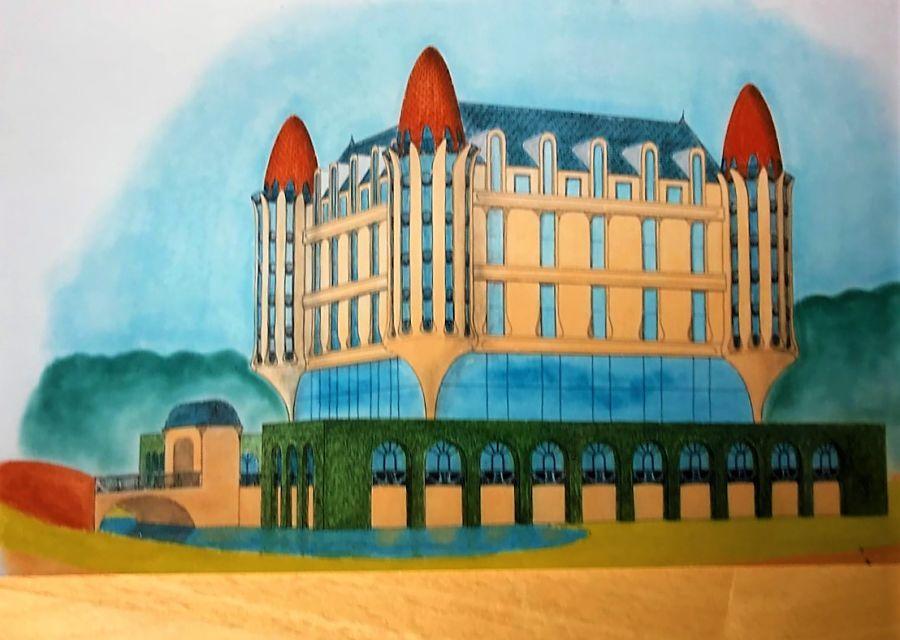 Schets van het Efteling Hotel