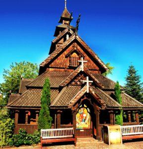 De Noorse staafkerk in Europa-Park
