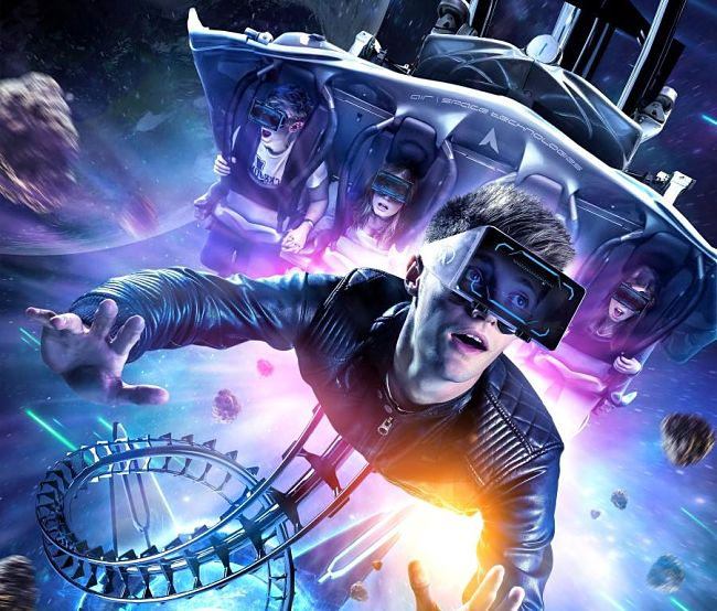 VR-ride Galactica in Alton Towers