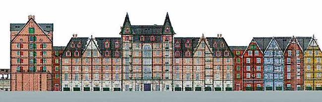 Het nieuwe hotel van Europa-Park heeft Speicherstadt in Hamburg als thema