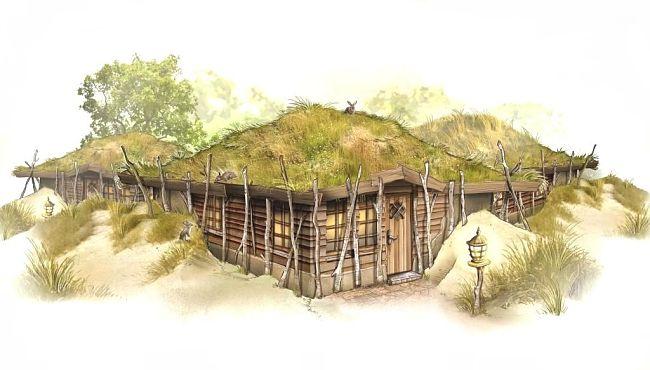 Een Duinhut in het Loonsche Land van de Efteling