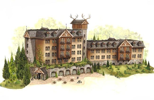 Het hotel van vakantiepark Loonsche Land van de Efteling
