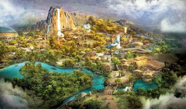 Adventure Isle in Shanghai Disneyland - Artist impression: (c) Disney