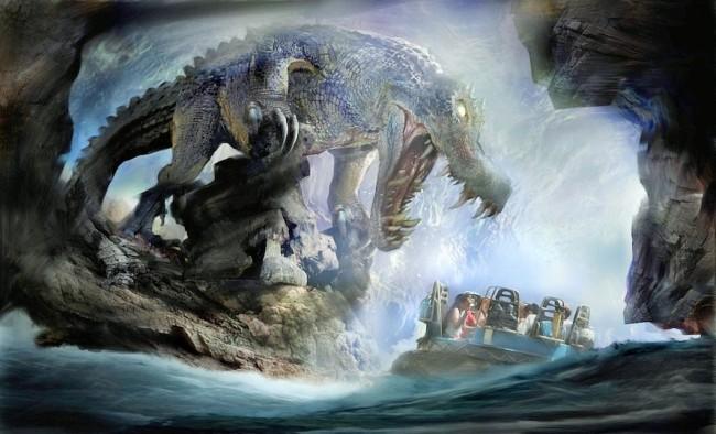 Roaring Rapids in Shanghai Disneyland - Artist impression: (c) Disney