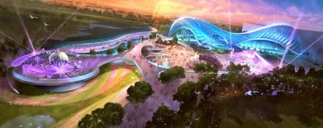 Tomorrowland in Shanghai Disneyland - Artist impression: (c) Disney
