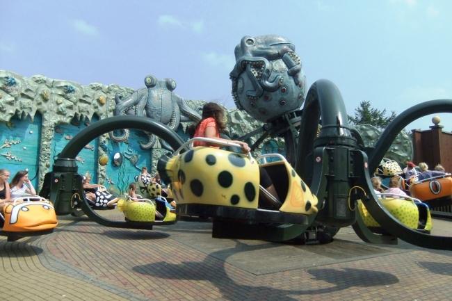 De voormalige Octopus in Attractiepark Slagharen - Foto: © Adri van Esch