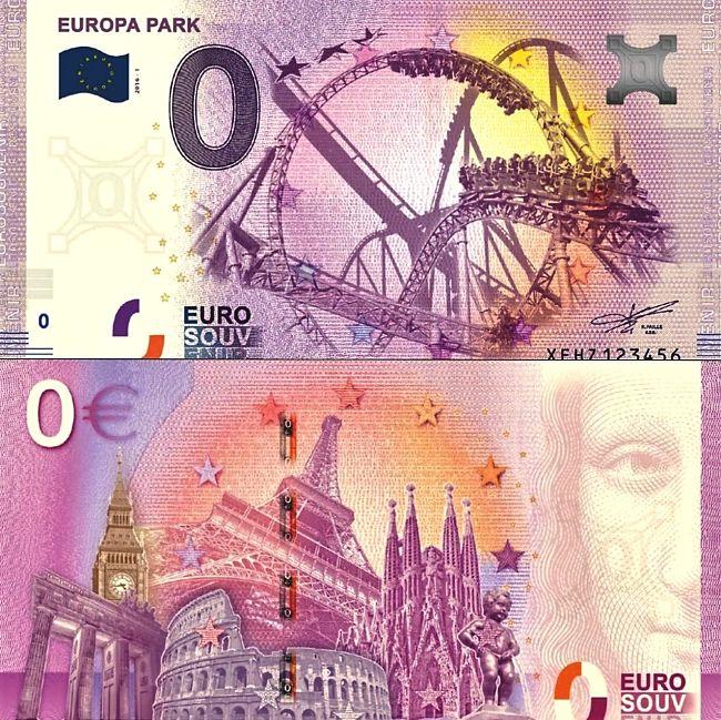 Het 0-eurobiljet van Europa-Park