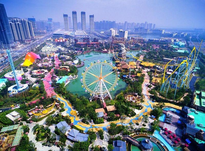 Wanda Hefei Theme Park vanuit de lucht - Foto: Jora Vision