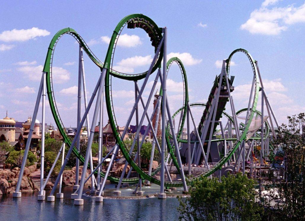 IOA Incredible Hulk Coaster 15pers