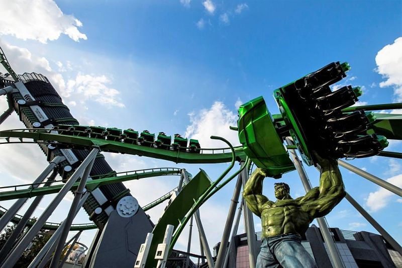 The Incredible Hulk Coaster in Islands of Adventure - Foto: © Universal
