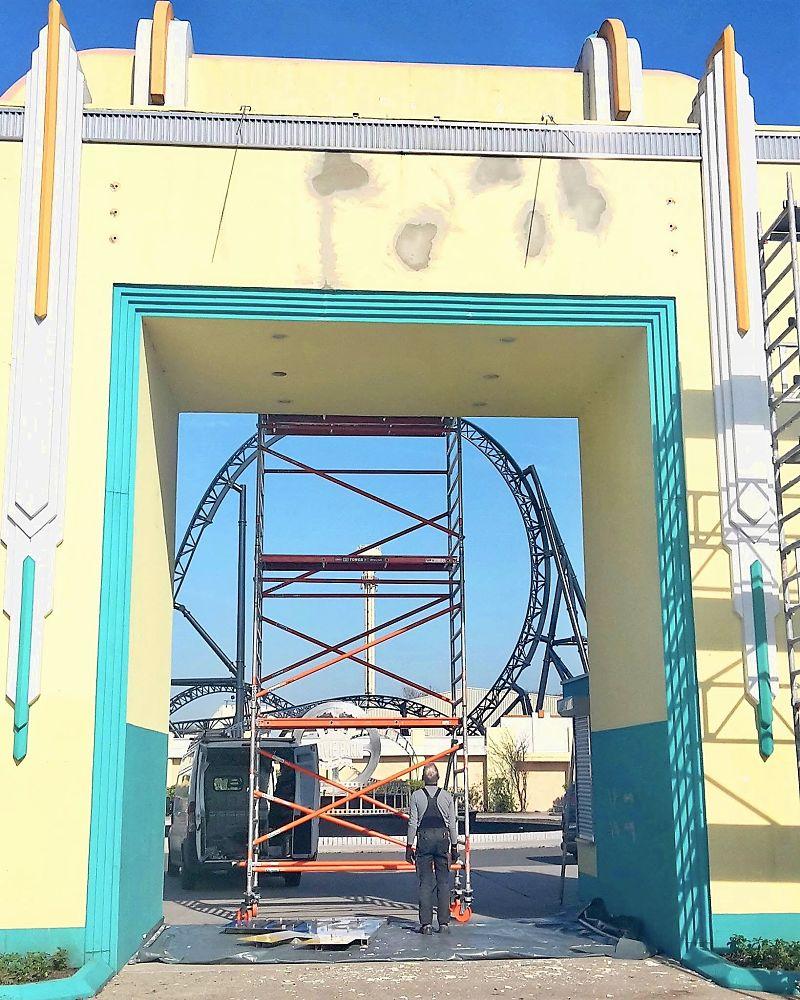 In Movie Park Germany wordt de ingang vernieuwd