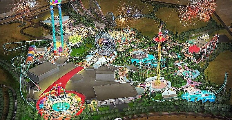 Ontwerp van Six Flags Dubai