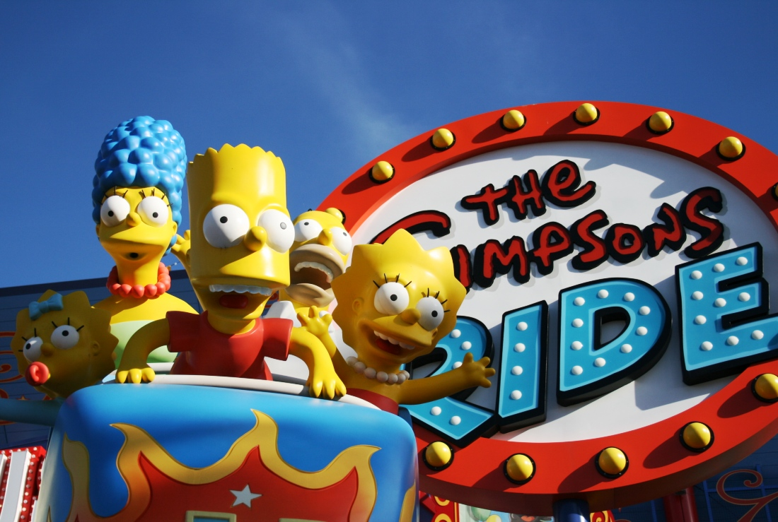 USF Simpsons Ride sign 15PP