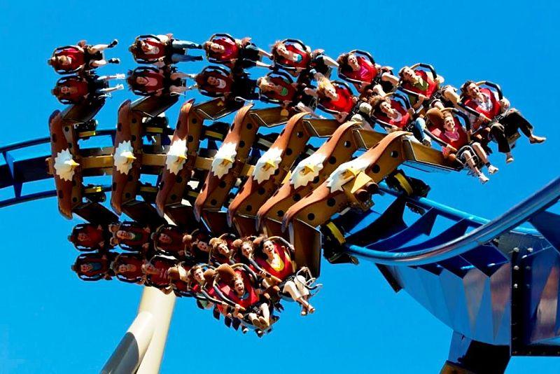 Wild Eagle, de wing coaster in het Amerikaanse pretpark Dollywood