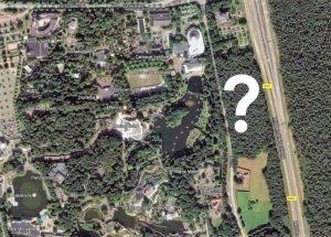 De Efteling en het uitbreidingsgebied ten oosten van de Horst - Foto: Google