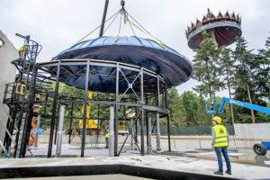De bouw van Symbolica in de Efteling - 3 juni 2016