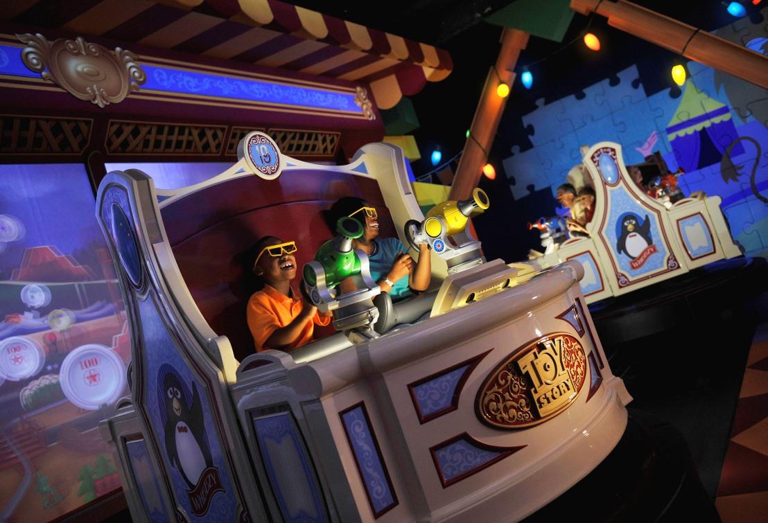 Toy Story Mania in Disney's Hollywood Studios - Foto: © Disney / Gene Duncan