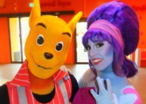 Mascottes Walibi en Fibi van Walibi Holland