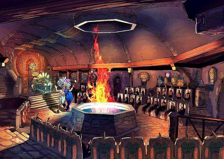 Pre-show bij Los Piratas de Bacalar in themapark Amikoo, een ontwerp van Jora Vision