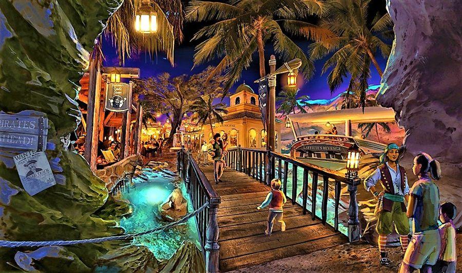 Restaurant in Los Piratas de Bacalar in themapark Amikoo, een ontwerp van Jora Vision
