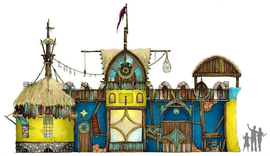 Artist impression van Magistralis' Magic Store in Toverland