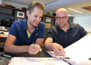 Robin van der Want en Simeon van Tellingen van Jora Vision - Foto: © Adri van Esch