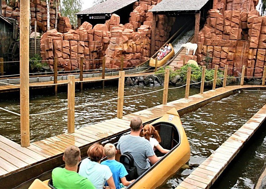 Wildwaterbaan Lego Canoe in Legoland Billund - Foto: © Adri van Esch