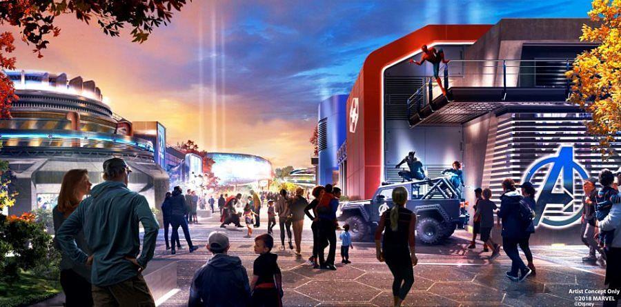 Marvel themagebied in Walt Disney Studios - Beeld: © Disney