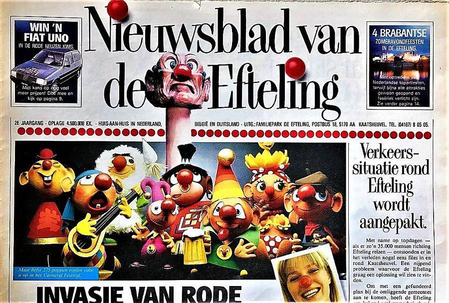 Efteling-krant uit 1984 - Foto: © Parkplanet