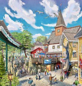 Ontwerp van het vernieuwde themagebied Scandinavië in Europa-Park