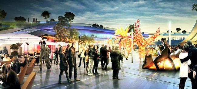 Uitgaanscentrum in EuropaCity - Beeld: © Wanda Group / EuropaCity